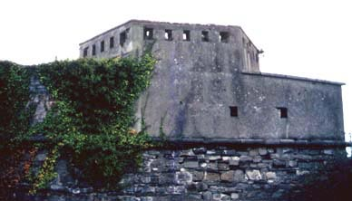 Part of the magazine fort
