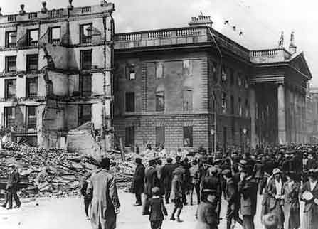 View of GPO after the rising