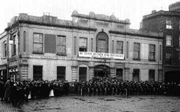 Citizen Army assembled outside Liberty Hall