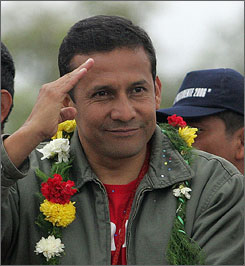 Leftist Ollanta Humala -  former army officer to be next Peruvian president?