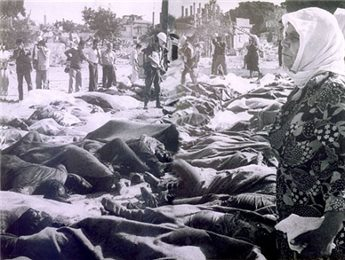 Piles of Corpses, murdered by Zio-Nazi Terrorists