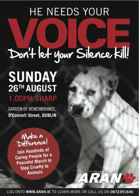 ARAN's 'All-Ireland March and Rally Against Cruelty to Animals' 2012