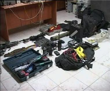 Weapons and explosives taken from SAS in Basra