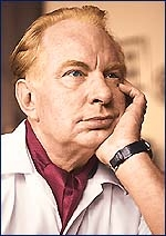 L Ron Hubbard, pathological liar & founder of the dangerous cult Scientology.