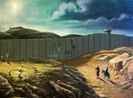 Joseph & Mary blocked by Illegal Zio-Nazi Wall of separation