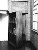 the bookcase at 263 Prinsengracht which opened to Anne Frank's hiding place
