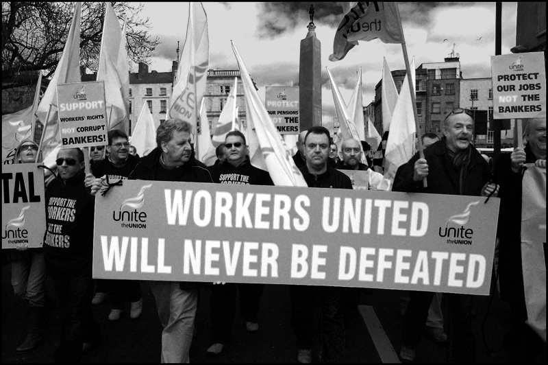 Waterford Crystal Workers on ICTU Demo, 21/02/09