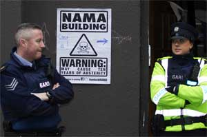 POlice outside the NAMA building - All rights reserved by Paul C Reynolds - used with permission