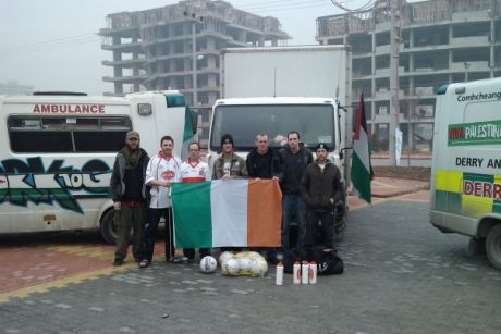 Members of the Ireland to Gaza team