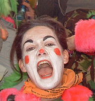 Rat 2 : Lyn Watson as a clown