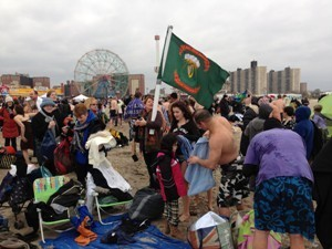 CABHAIR Swim , Coney Island , New York, 1st January 2013.