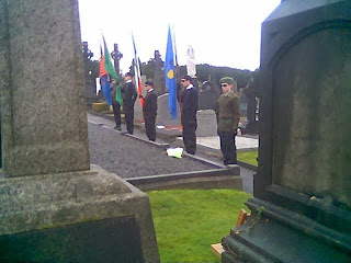 RSF Colour Party and Na Fianna �ireann members at the commemoration.