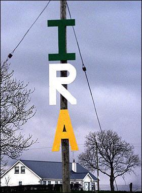 IRA Sign on Pole