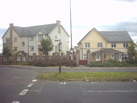 Newer housing at Pennywell roundabout.