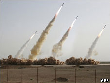 Iran test-fires missiles with possibility of hitting Israel
