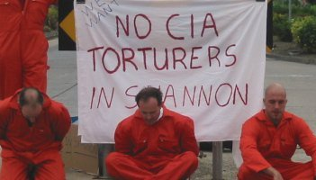 Visual reminder to passers by that torture is happening in known and unknown US holding sites