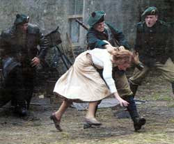 Black & Tans in action - film pic with An Phoblacht review