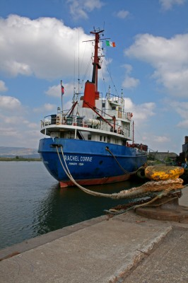 MV Rachel Corrie, waiting in Dublin, preparing to be the first boat into gaza port in 42 years