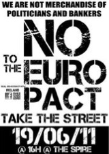 Real Democracy Now! Dublin - June19 against € Pact - Peaceful Demonstration