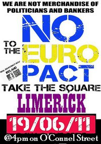 Real Democracy Now! Limerick - June19 against € Pact - Peaceful Demonstration