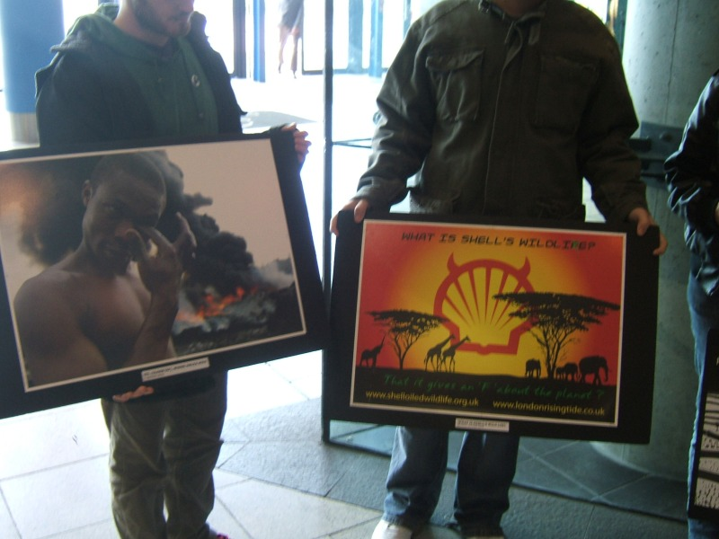 Shell Photography Exhibition : Belfast shell to sea protest against wildlife photography