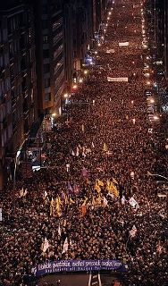 Prisoner solidarity demonstration, Bilbao, January last year -- this year's was even bigger