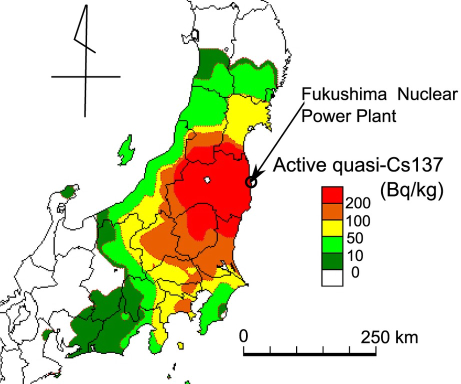 The Three Fukushima Nuclear Reactor Core Meltdowns And Widespread - Us nuclear plant meltdown map