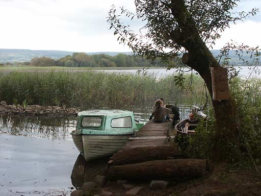 ecotopia 2002 Co.Clare boat in lake reeds