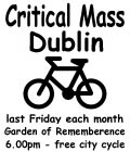Critical Mass Dublin - the small and simple flyer