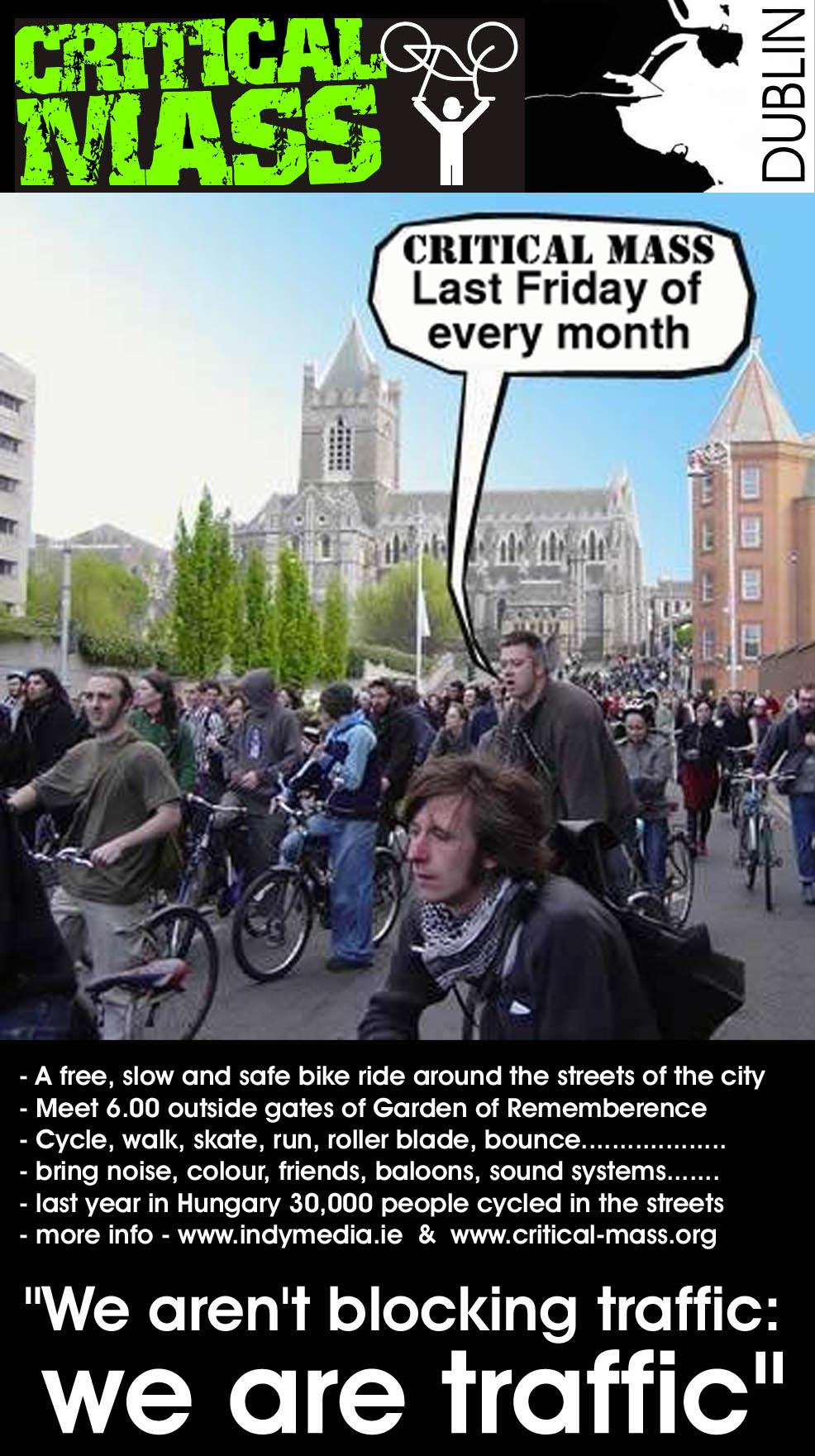 critical mass bike ride dublin - images