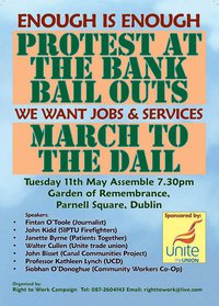 Enough is Enough! No More Bailouts! - poster (only small version seems accessible)