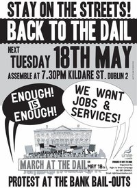 Protest at the DAIL! Poster on FACEBOOK