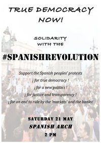 True Democracy Now - Solidarity with the #SpanishRevolution (Galway)