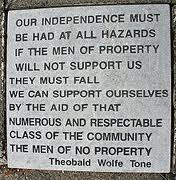 RSF-organised Wolfe Tone Commemoration : Sunday 10th June 2012.