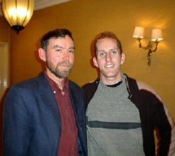 Damien And Dr Ian Atack, Director Of Peace Studies In Trinity College