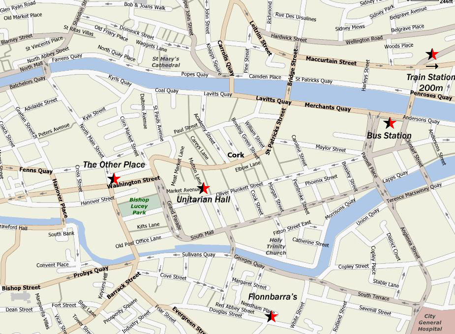 handy cork city centre map