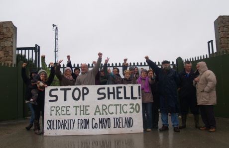 Last week's demo at the Shell refinery site, Co Mayo