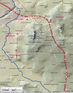 The route with archaeological sites
