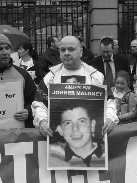 John outside  leinster house