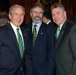 green ties - with Bush and Chief of Homeland Security , Peter King