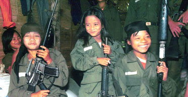 Not scared nor scary? the creche of child soldiering & those guns aren't chinese