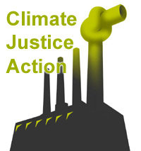 CLIMATE JUSTICE ACTION - alive and well in london town and beyond tonight...