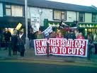The 'Core Crew' at a CDP protest in Clondalkin , 2009.