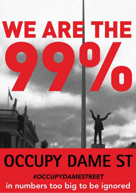 We are the 99% - Occupy Dame St