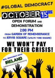 Oct 15 Dublin - 2pm Garden of Rememberence > Occupy Dame Street