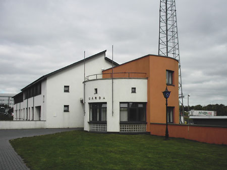 Blanchardstown Garda Station, site of Glennon brothers machine gun attack earlier in the year.
