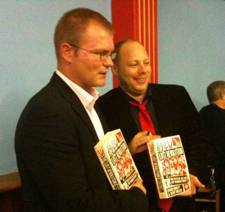 Brian Hanley and Scott Millar at the book launch. Photo by Andrew Flood