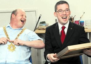 SIPTU facilitate Belfast Mayor Niall O'Donnghaile visit to Art Ability in June