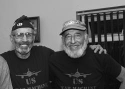 Veteran for Peace activists: Former U.S. Marine Major Ken Mayers and former U.S. Army paratrooper Tarak Kauff