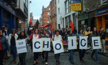 March in Temple Bar during Womens on Waves visit